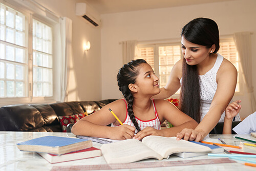 Parents role during child's exam time